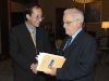 President Eddie Fenech Adami is presented with a publication entitled `Fungal and fungal like plant pathogens of the Maltese Islands` by Dr David Mifsud, lecturer in biology at the University of Malta  The Palace, Valletta.